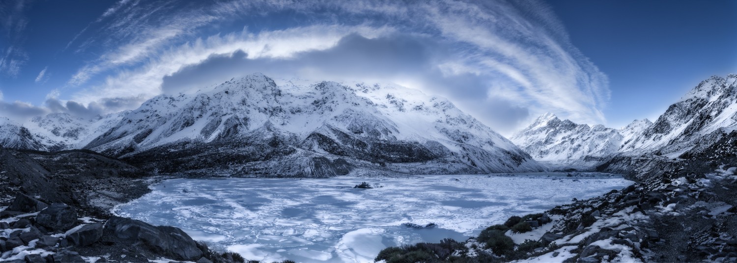 Landscape and Panorama Photography Workshop Tours - Mt Cook, Hooker Valley Track, New Zealand