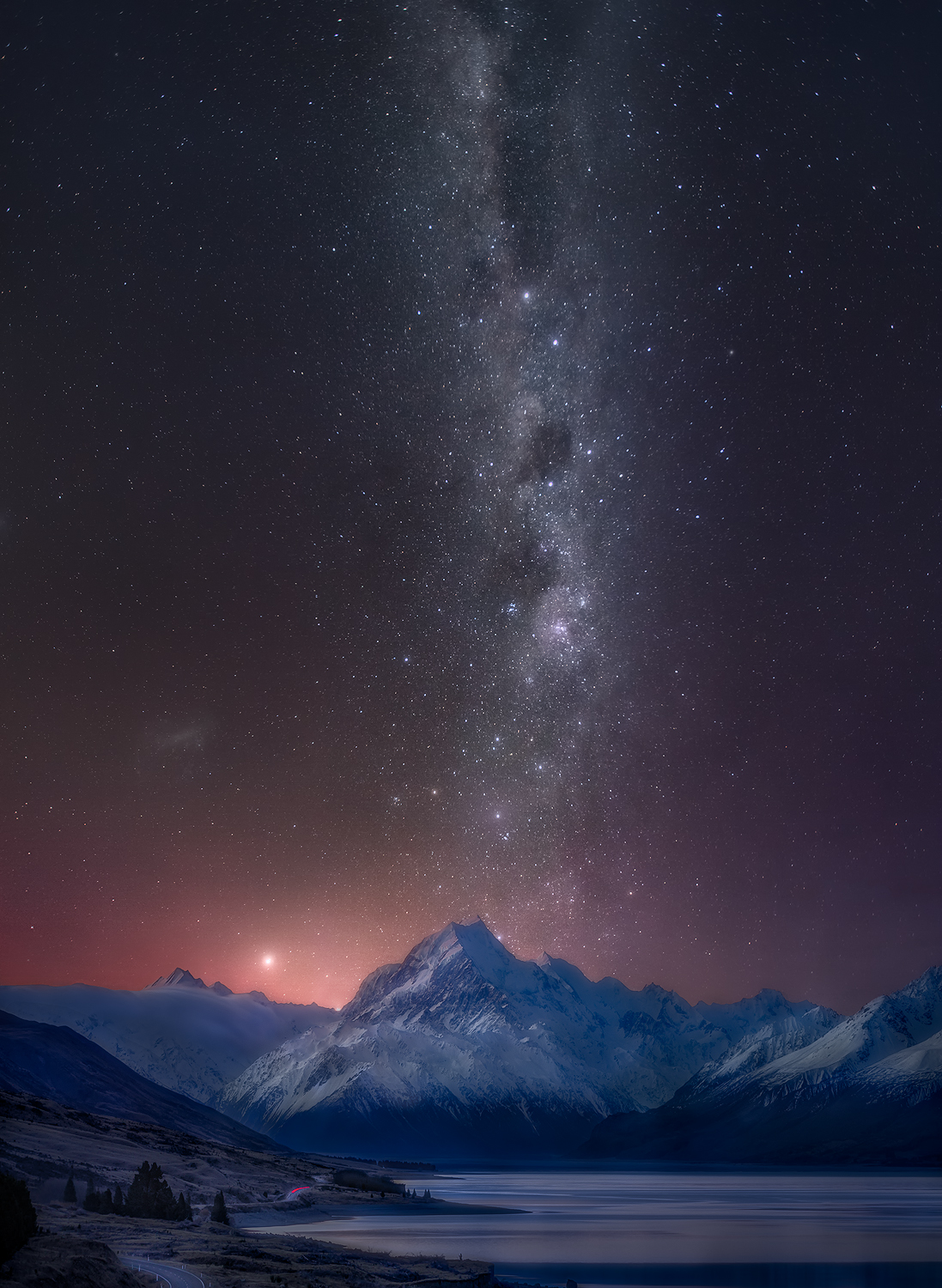 Aoraki Mount Cook National Park at Night Astro, New Zealand 6 day tour | We Are Raw Photography