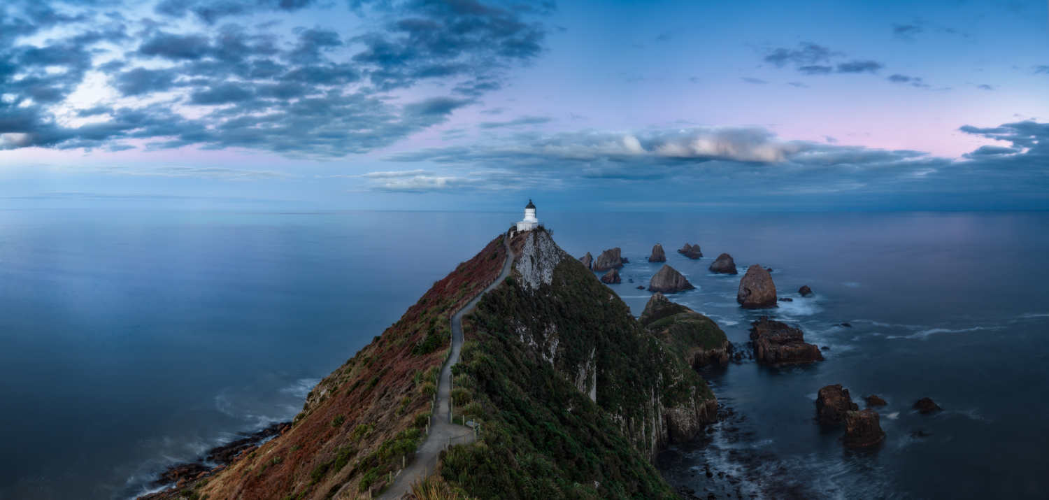 Nugget Point Lighthouse Sunset Long Exposure, New Zealand 6 day tour | We Are Raw Photography