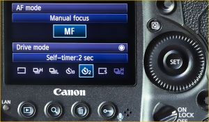 Canon how to set 2 Sec Self Timer - Tips for getting razor-sharp photos from your camera | We Are Raw Photography