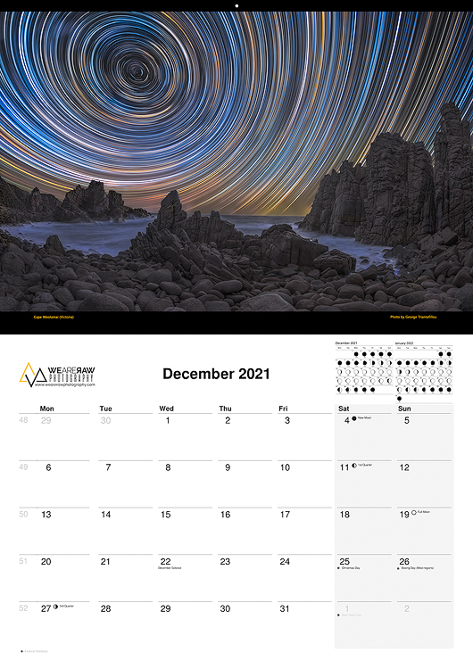 2021 Calendar Vision of Victoria | Australia Landscape Fine Art by We Are Raw Photography
