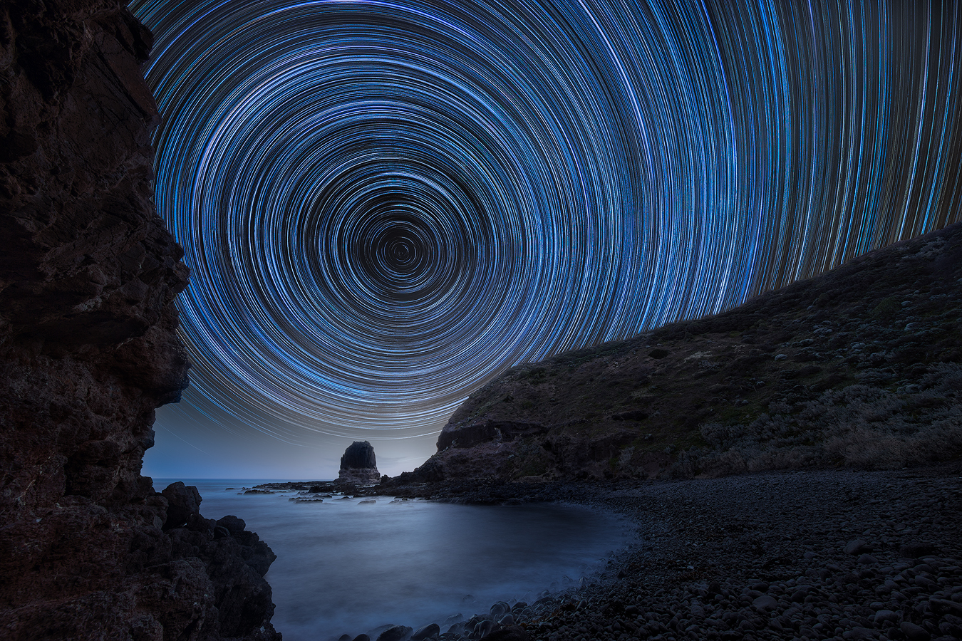 Astrophotography Workshop | Star trail Cape Schanck Pulpit Rock Melbourne Australia | WeAreRawPhotography
