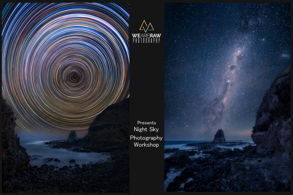 Astrophotography Workshop | Startrail, milkyway, night sky photography | Cape Schanck Melbourne Victoria Australia | We Are Raw Photography courses, tours and workshops