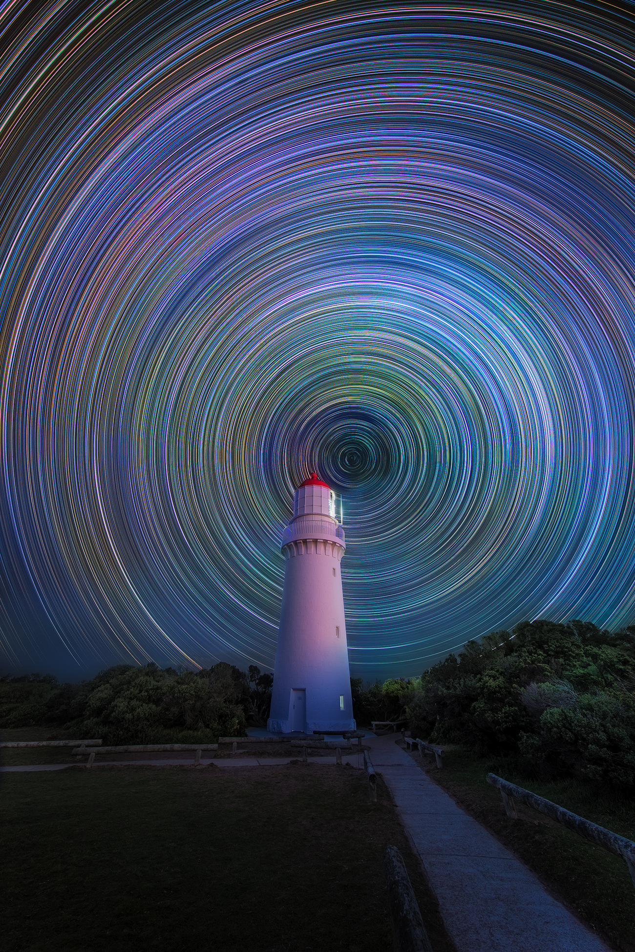 Start trail Photography Cape Schanck Lighthouse - Cape Schanck, Victoria, Australia | We Are Raw Photography Workshops