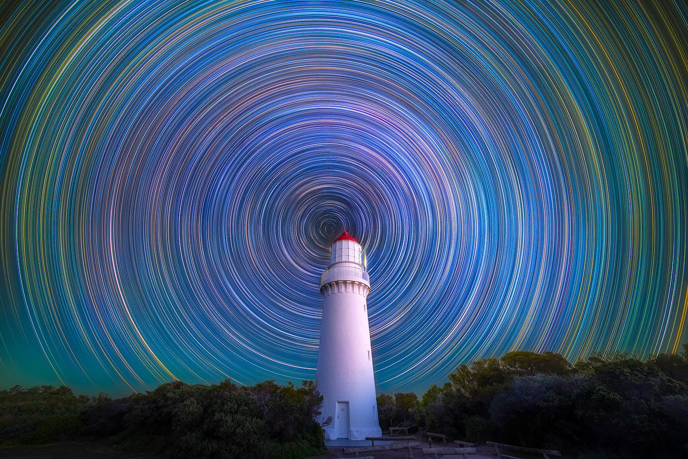 Astrophotography Workshop | Star trail Cape Schanck Lighthouse Melbourne Australia | WeAreRawPhotography