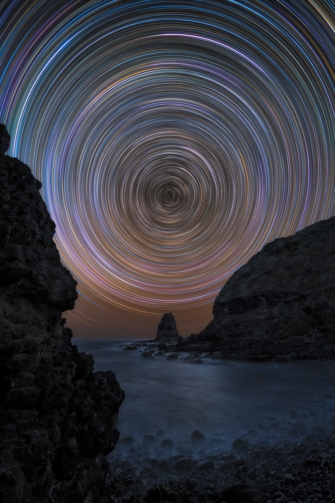 Astrophotography Workshop | Star trail Cape Schanck Pulpit Rock Melbourne Australia | We Are Raw Photography Courses