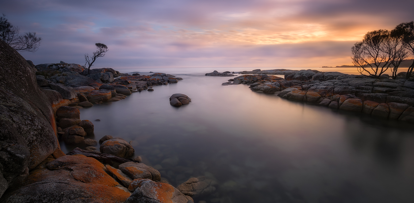 Tasmania Landscape Photography Tour - Binalong Bay Panorama | Holiday with We Are Raw Photography Tours