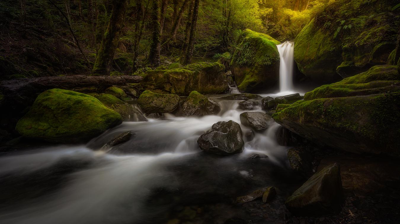 Landscape Photography-Tasmania Waterfall Serenity by George Triantafillou | Chasm_Falls Tasmaina Fine Art | by George Triantafillou | Waterfall Serenity