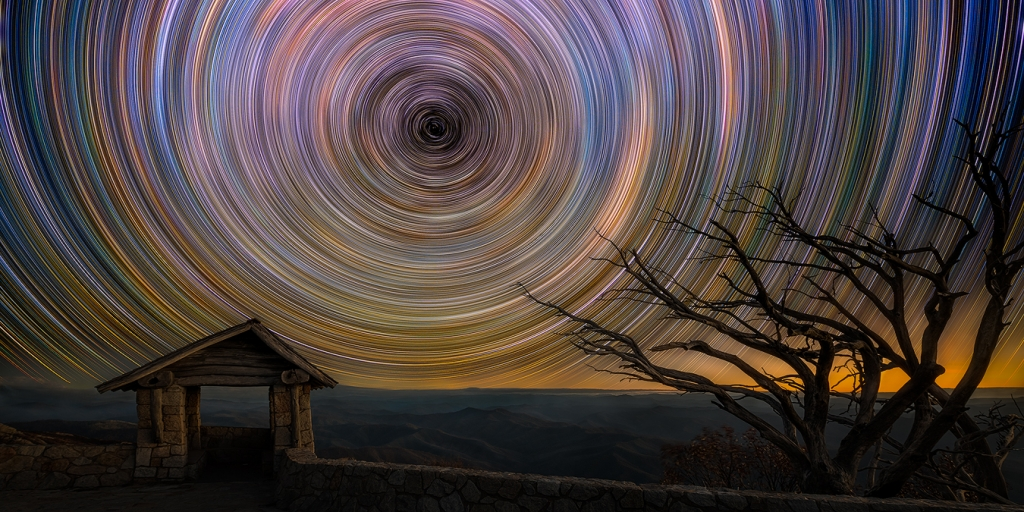 Star Trail Photography Panorama Mount Buffalo The Horn | We Are Raw Photography Astrophotography stargazing Tours autumn