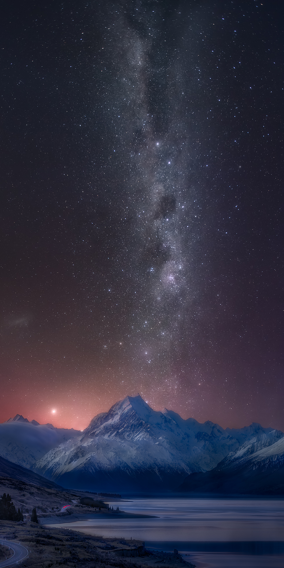Milky Way Mount Cook New Zealand | Landscape Fine Art Photography print for sale by Karolin Schild