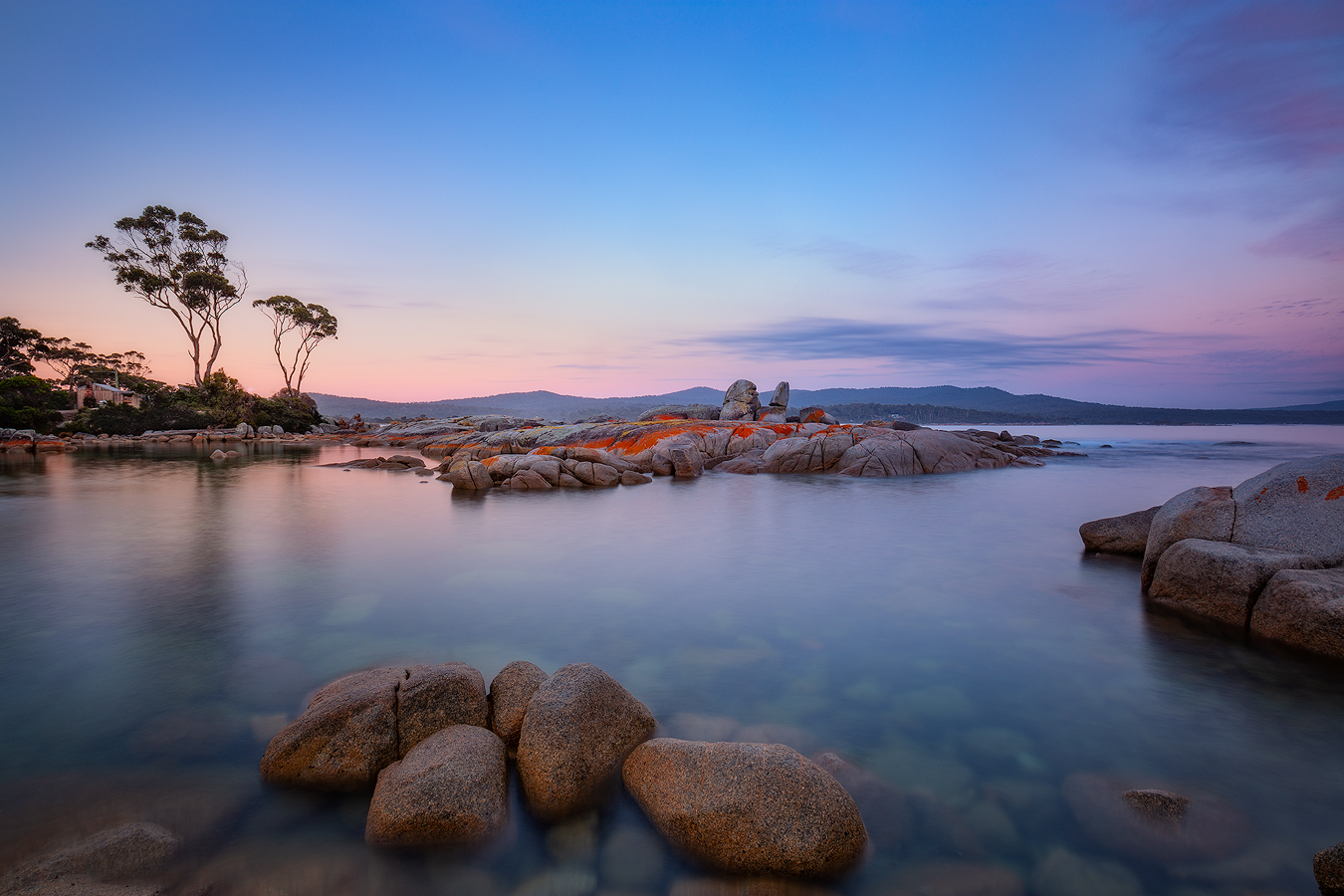 Tasmania Landscape Photography Tour - Binalong Bay Pastel Morning Sunrise | Holiday with We Are Raw Photography Tours