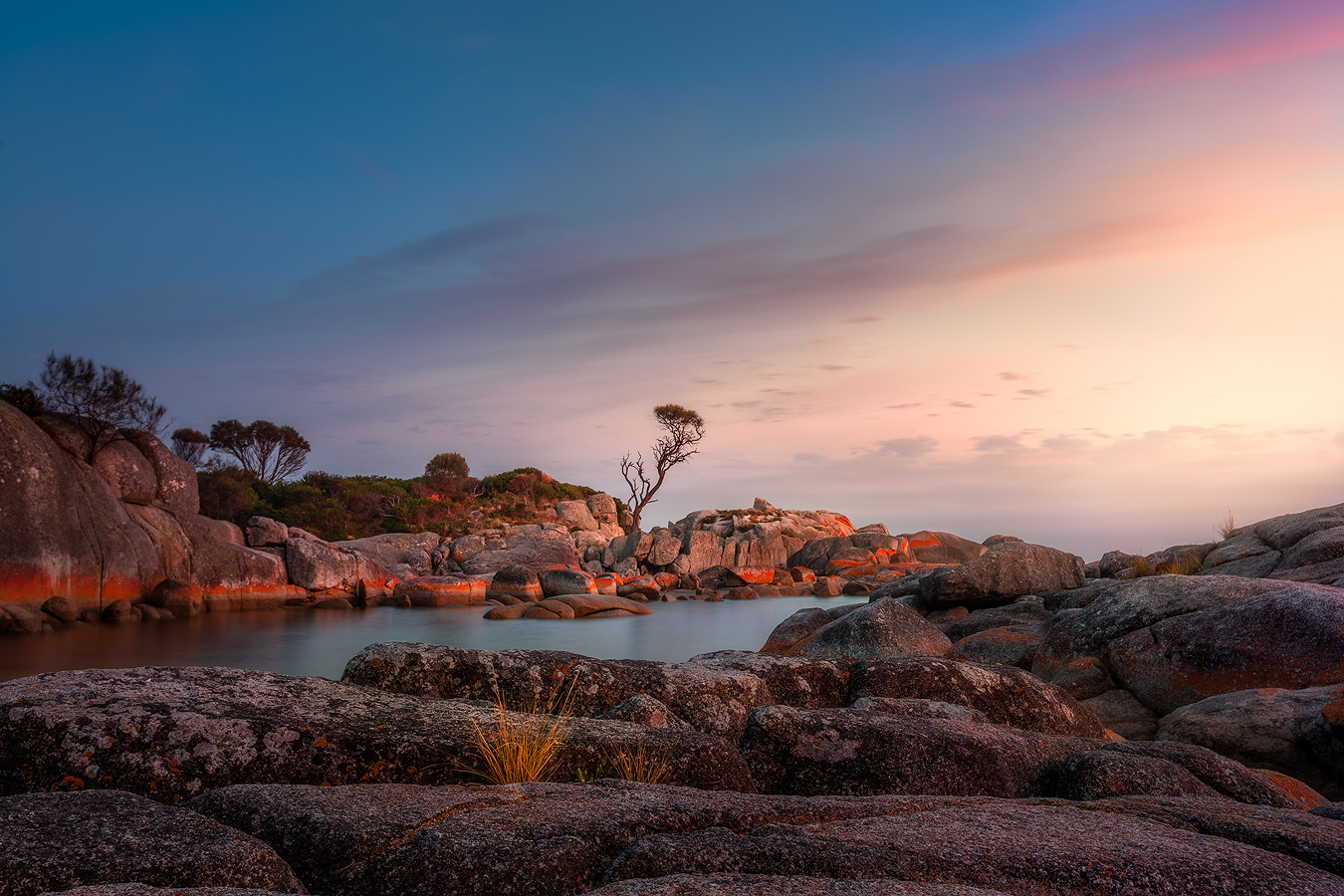 Tasmania Landscape Photography Tour - Binalong Bay Sunrise | Holiday with We Are Raw Photography Tours