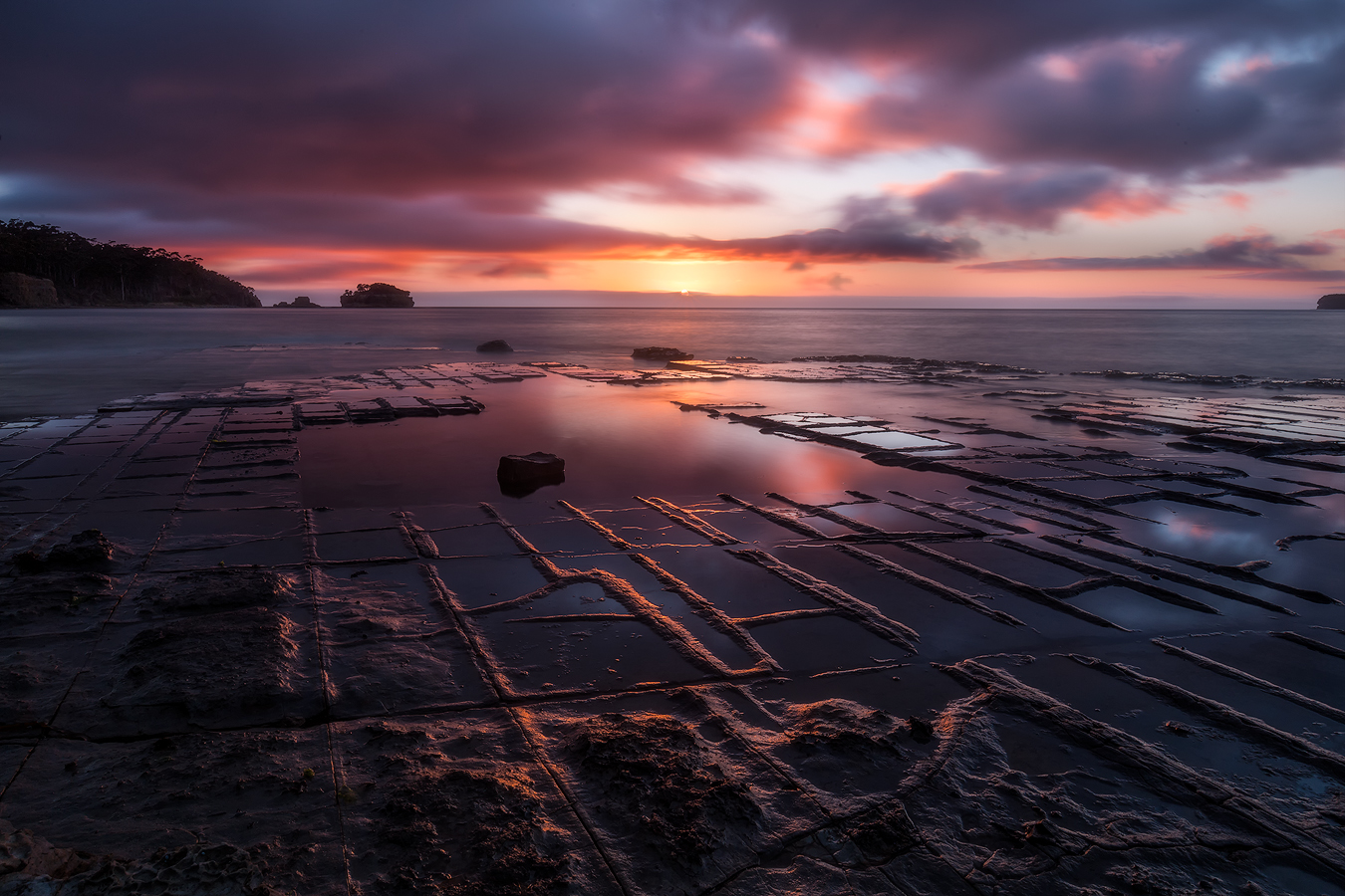 6 Day Tasmania Landscape Photography Tour - Tessellated Pavement at Sunrise | Holiday with We Are Raw Photography Tours