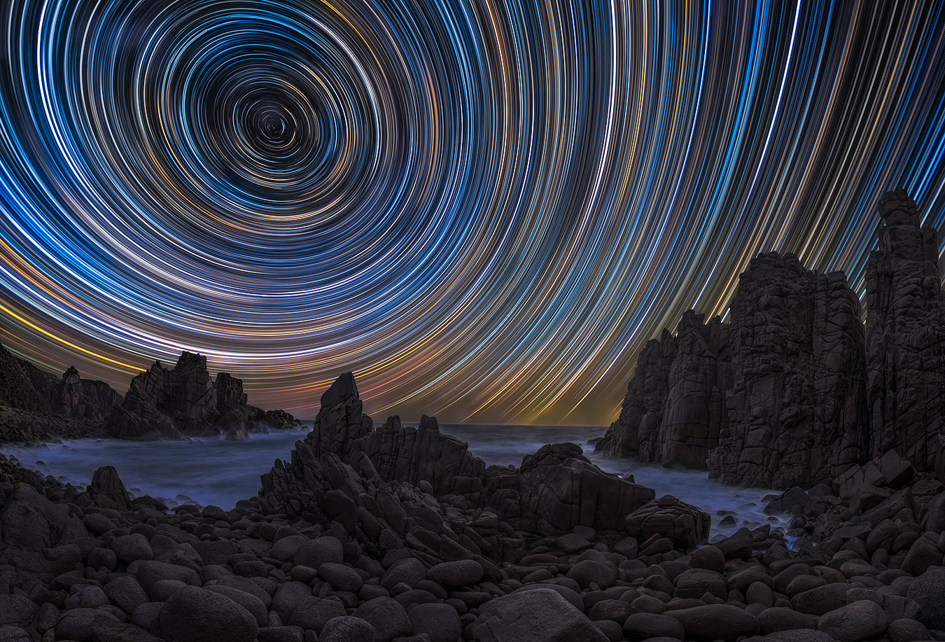 Astrophotography Workshop | Night Sky Star trail Phillip Island Melbourne | We Are Raw Photography | Cape Woolamai, Pinnacles VIC. Australia