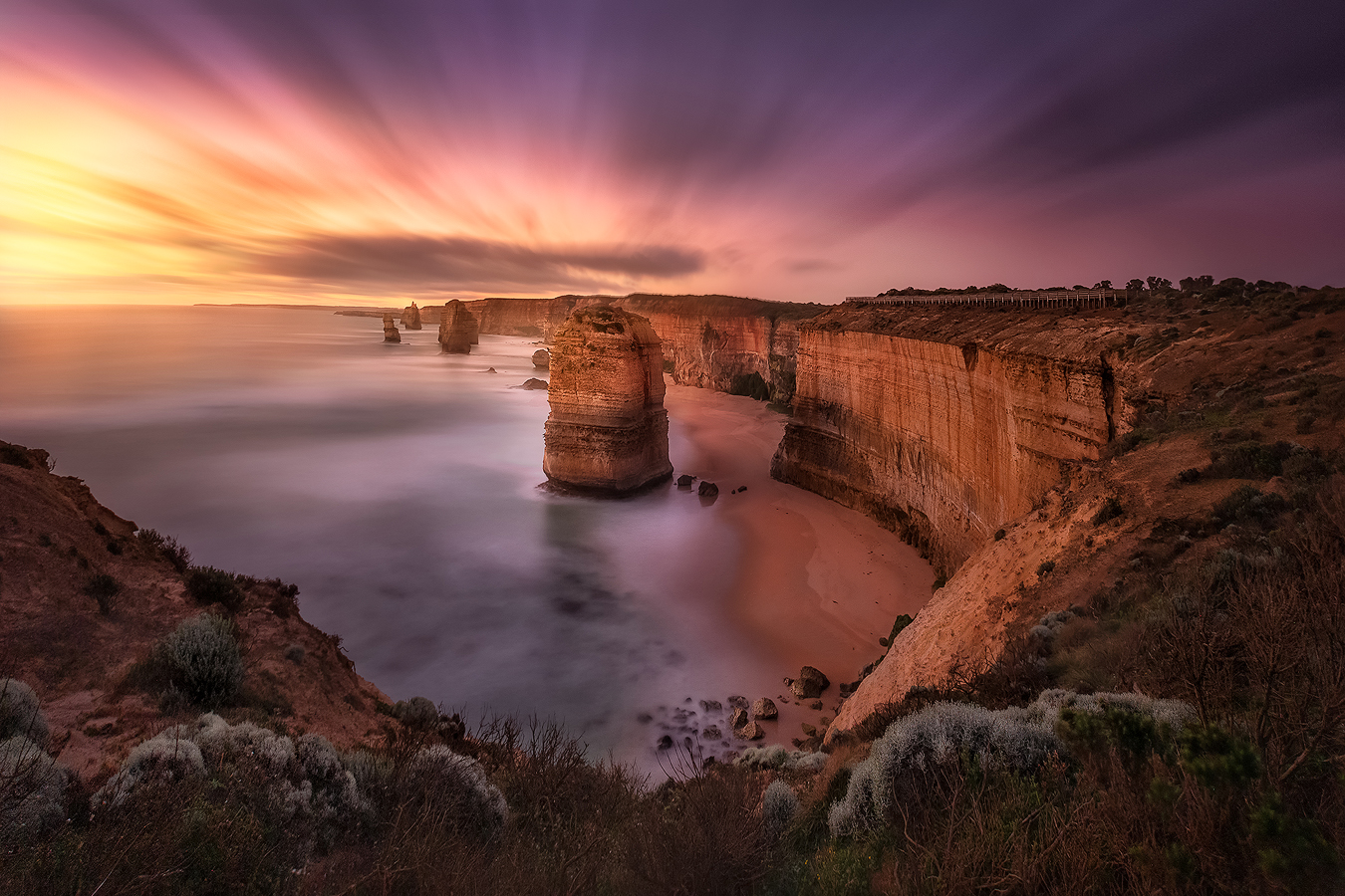 Twelve Apostles sunset - Great Ocean Road, Australia | Holiday with We Are Raw Photography Tours