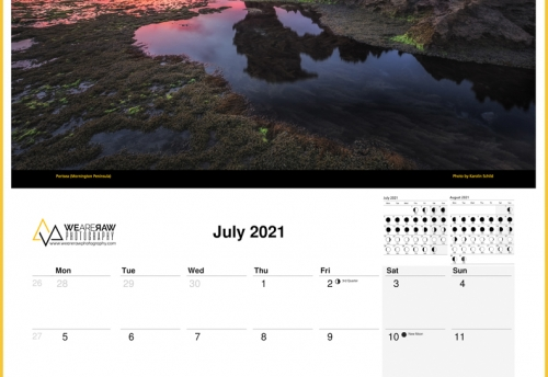 Wall Calendar 2021   Visions of Victoria   12 Months of Beauty by We Are Raw Photography   Australian Landscape Photography