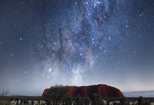 Ayers Rock - Uluru under the stars   Milky Way Interior design Fine Art   We Are Raw Photography