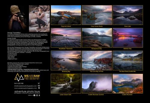 Wall Calendar 2022 - Visions of Tasmania - back page